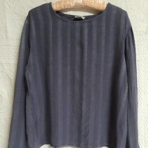 Cut Loose textured rayon deep dusty periwinkle top